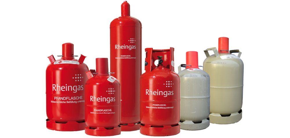 Gasflaschen Rheingas